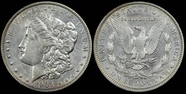 1903 P Morgan Dollar XF Cleaned