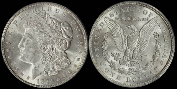 1921 P Morgan Dollar ANACS MS63 5048314
