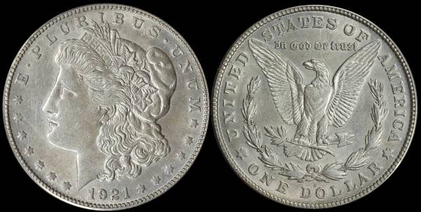 1921 S Morgan Dollar ANACS MS60 Cleaned 5048318