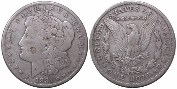 1921 S Morgan Dollar VG