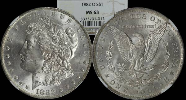 Morgan Dollar 1882 O NGC MS63 3373791-012