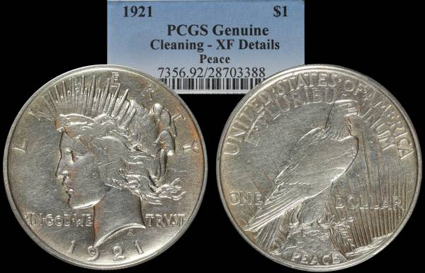 1921 Peace Dollar PCGS XF Details 28703388