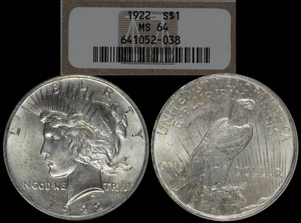 1922 P Peace Dollar NGC MS64 651052-038