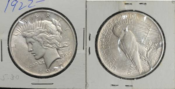 1922 P Peace Dollar Uncirculated