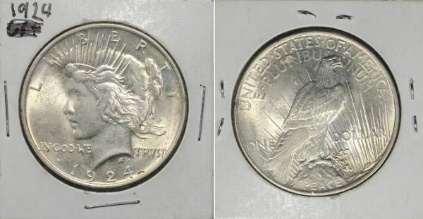 1924 P Peace Dollar Uncirculated