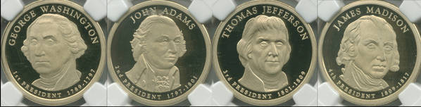 First Four Presidential Dollars