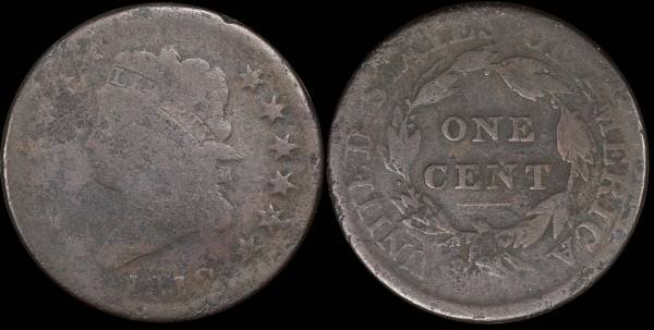 1812 Classic Head Large Cent CULL