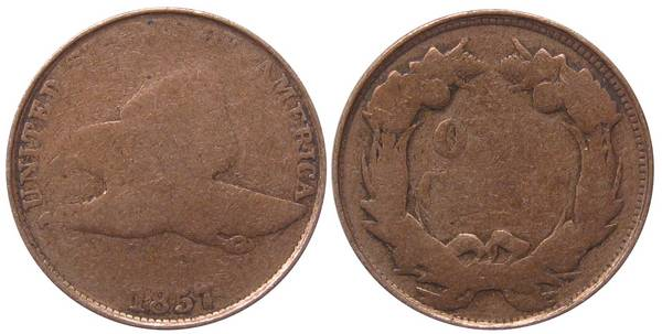 1857 Flying Eagle Cent G4