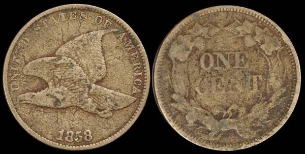 1858 Flying Eagle Cent G4