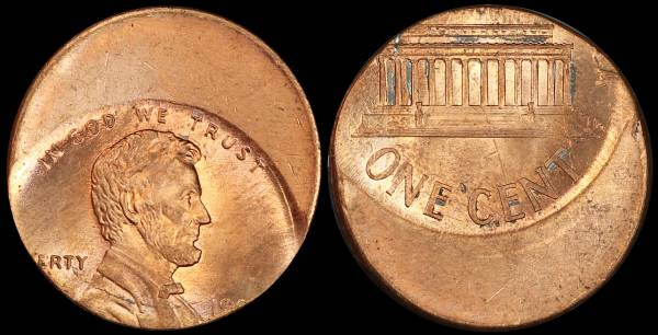 Off Center Lincoln Cent Unknown Date 19xx