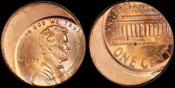 Off Center Lincoln Cent 19xx RED UNC