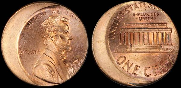 Off Center Lincoln Cent Unknown Date 200x