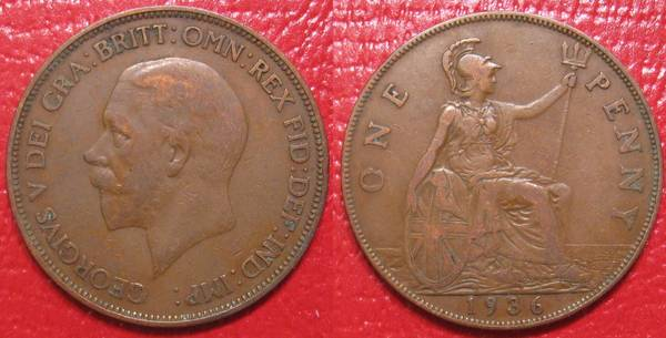 1936 Great Britain Penny