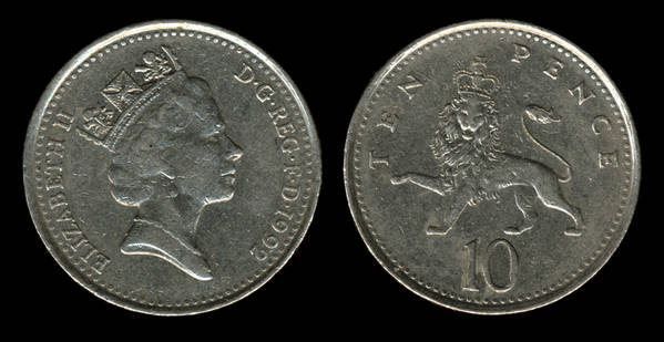 great britain 10 pence 1992