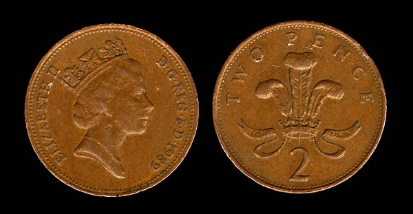 great britain 2 pence bronze 1989