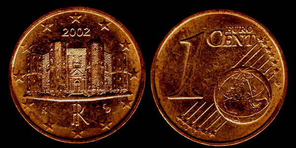 italy 1 euro cent 2002 my coin pictures. Black Bedroom Furniture Sets. Home Design Ideas