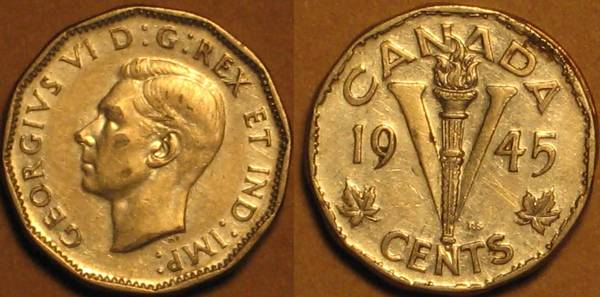 1945 Canadian Nickel