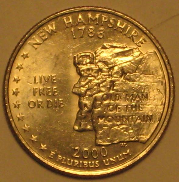 2000 Washington State Quarter New Hampshire
