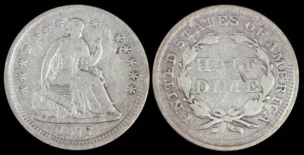 1856 Seated Liberty Half Dime VG Details