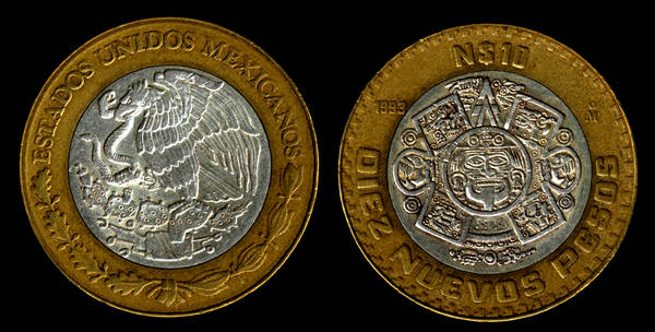 Mexico 10 New Pesos 1993