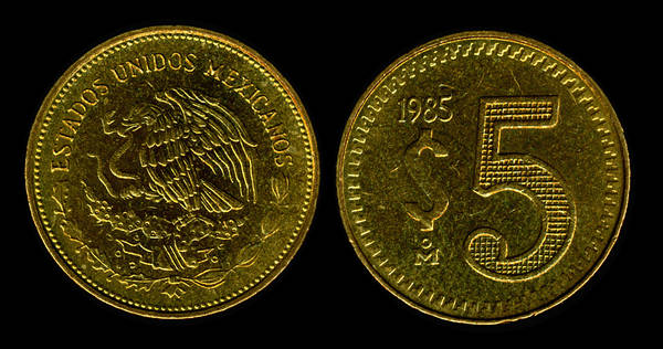 Mexico 5 Pesos 1985 My Coin Pictures
