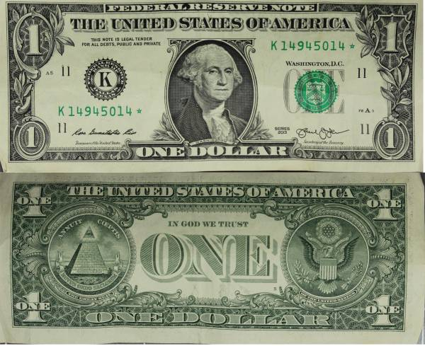 K14945014 Federal Reserve Star Note 1 one dollar series 2013