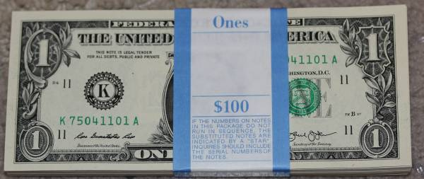 100 Pack Federal Reserve note 2013 Dallas K75041101A.JPG