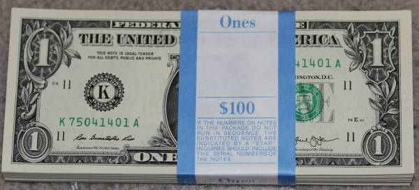 100 Pack Federal Reserve note 2013 Dallas K75041401A.JPG