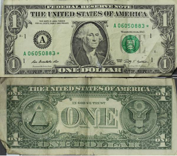 A06050883 Federal Reserve Star Note 1 one dollar series 2009