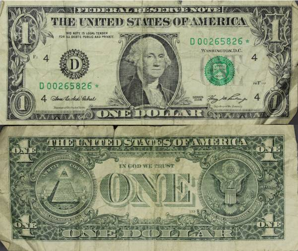 D00265826 Federal Reserve Star Note 1 one dollar series 2006