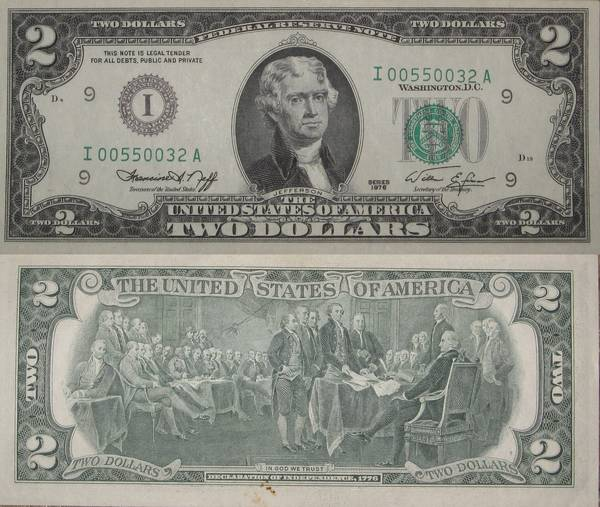 Two Dollar Bill series 1976 Minneapolis Crisp Uncirculated