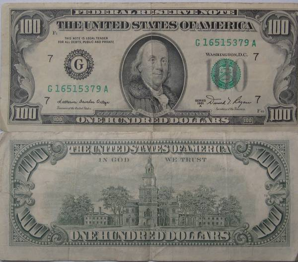 100 Dollar Bill Series 1981 A