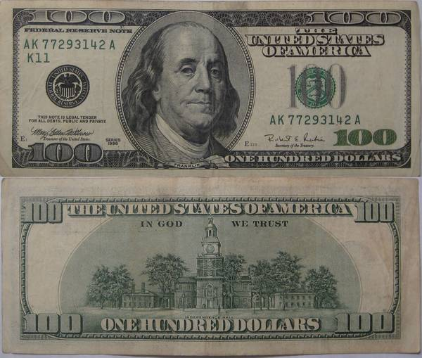 100 dollar bill series 1996 my coin pictures pronofoot35fo Choice Image