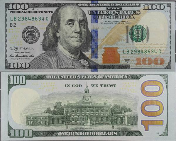 100 Dollar Bill Series 2009A LB29848634G