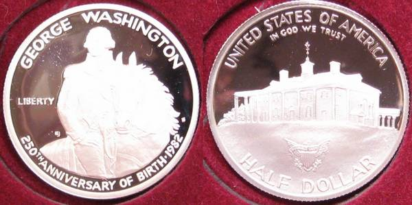 1982 250th Anniversary of Birth George Washington Proof