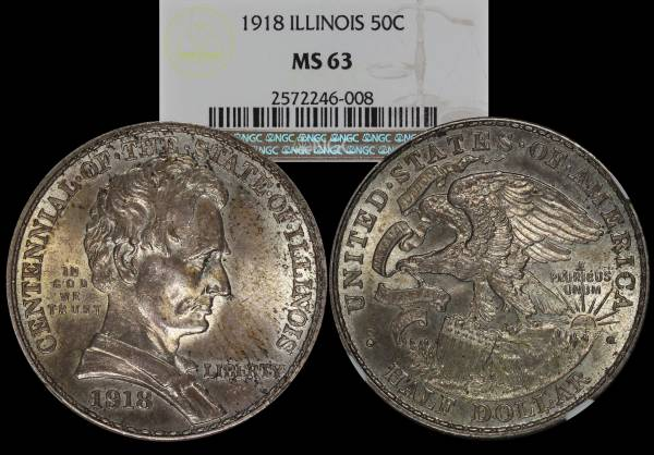 1918 Illinois Centennial Commemorative NGC MS63 2572246-008