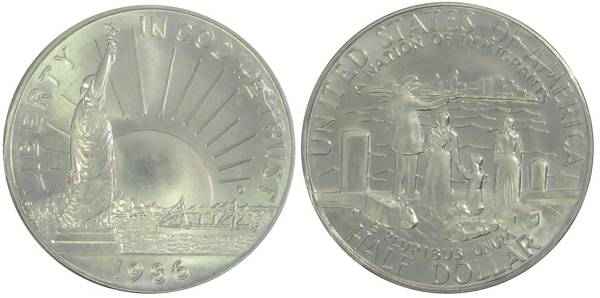 United States Statue of Liberty Coin 1986