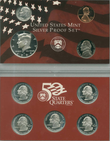 1999 Silver Proof Set Obverse