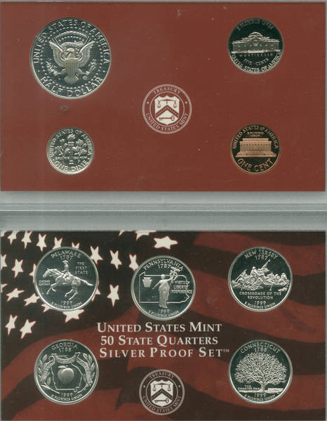 1999 Silver Proof Set Reverse