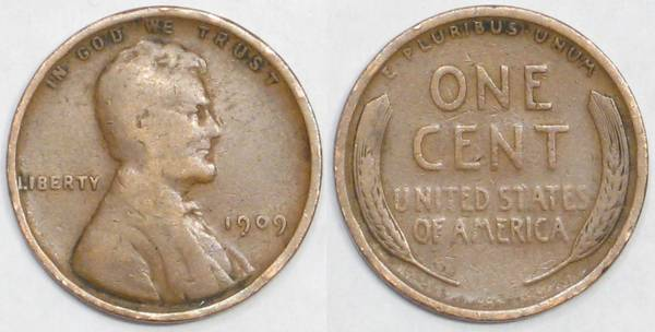 1909 P Lincoln Cent VG08