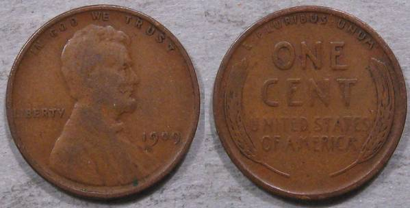 1909 P Lincoln Cent VG10
