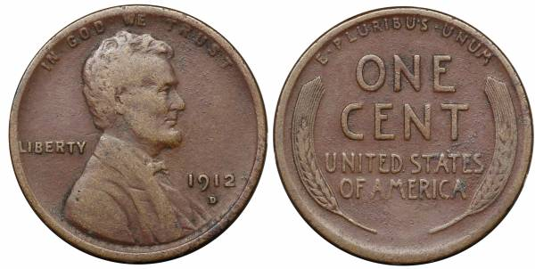 1912 D Lincoln Cent F15