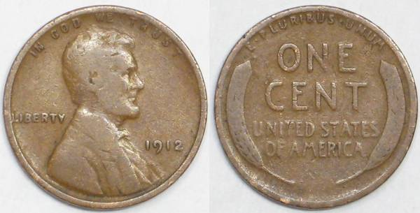 1912 P Lincoln Cent G4.