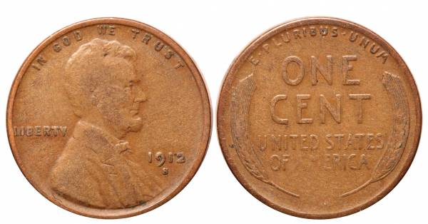 1912 S Lincoln Cent F12