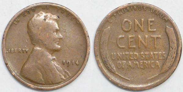 1914 P Lincoln Cent G4