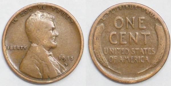 1915 D Lincoln Cent G4