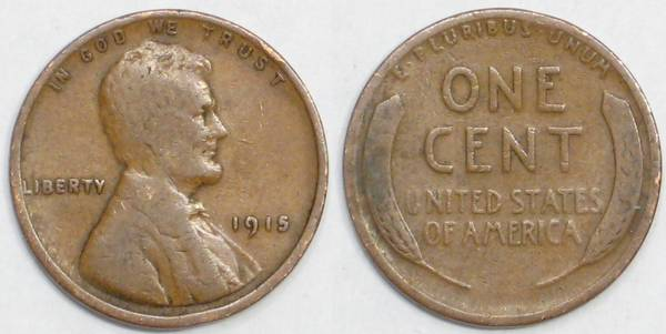 1915 P Lincoln Cent G4