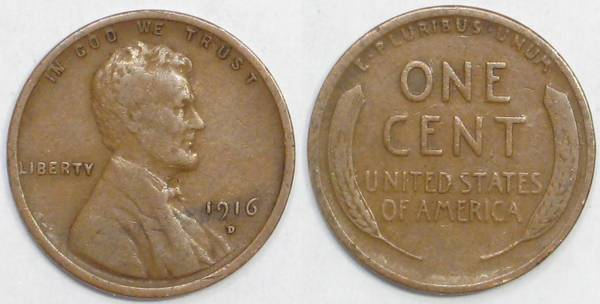 1916 D Lincoln Cent G6