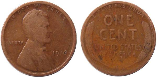 1916 P Lincoln Cent found on floor at work