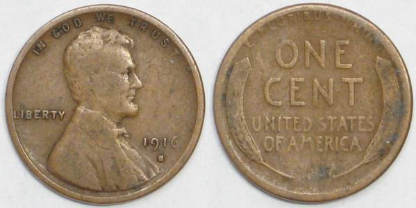 1916 S Lincoln Cent G4